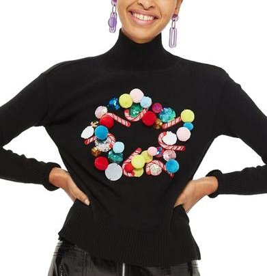 Modern day ugly Christmas sweater from  Nordstrom  selling for $100.
