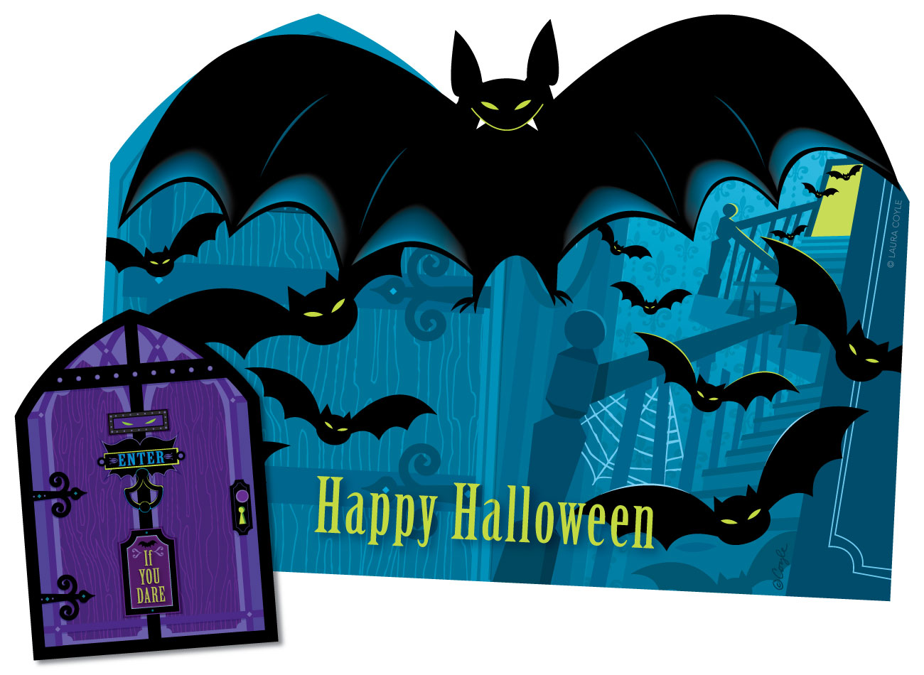 Bats! Pop-Up Card