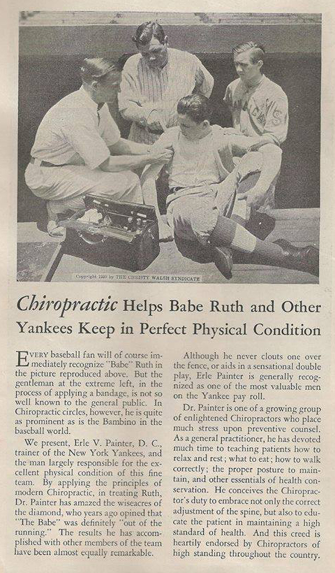 Chiropractic Helps Babe Ruth and Other Yankees