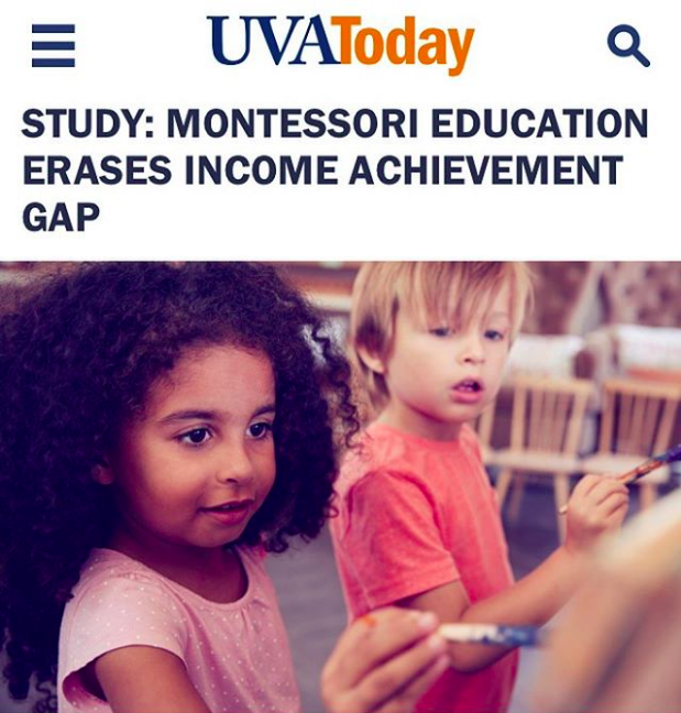 Transformation - STUDY: MONTESSORI EDUCATION ERASES INCOME ACHIEVEMENT GAP: https://www.news.virginia.edu/content/study-montessori-education-erases-income-achievement-gap