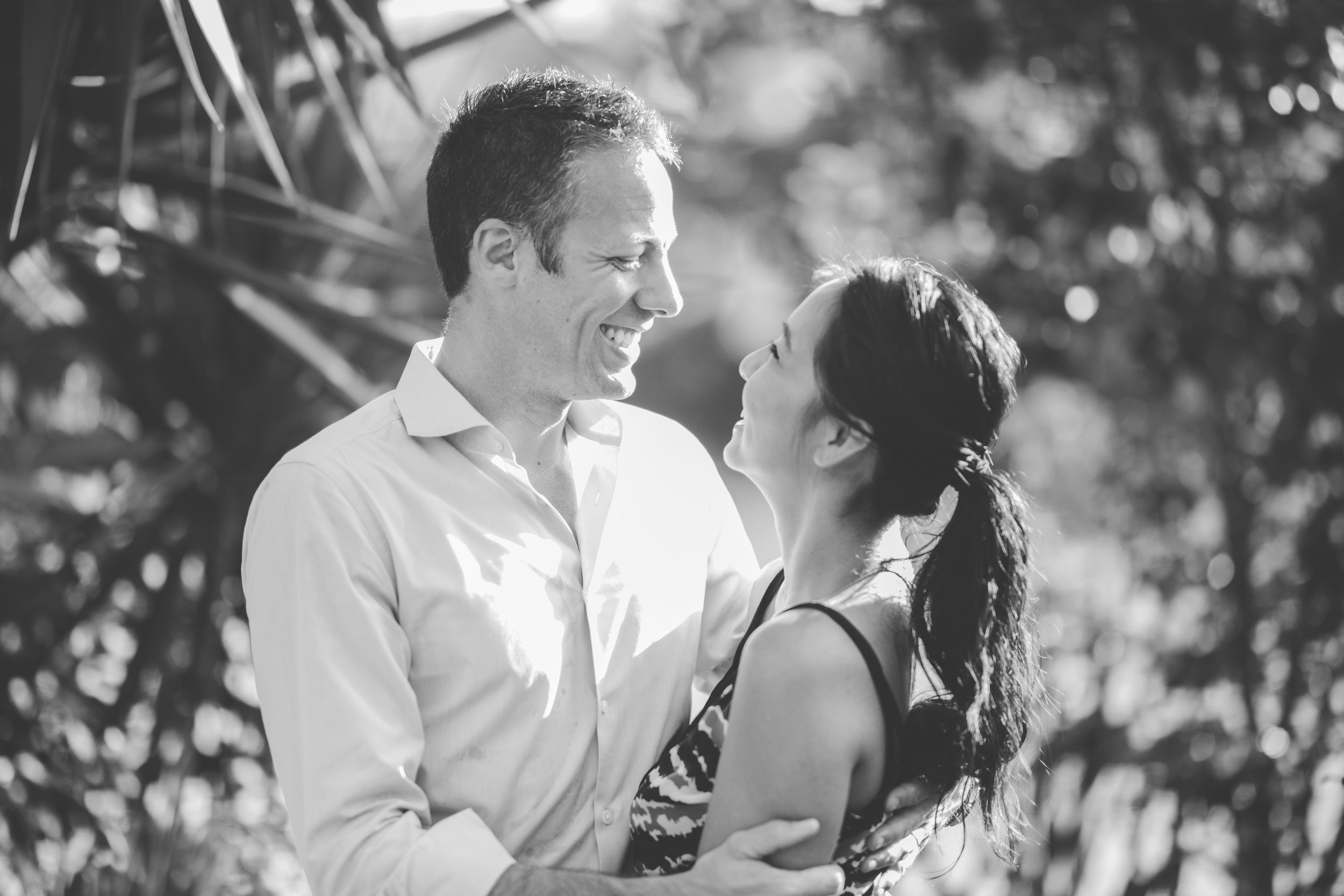 Black and white couple photos in Mauritius