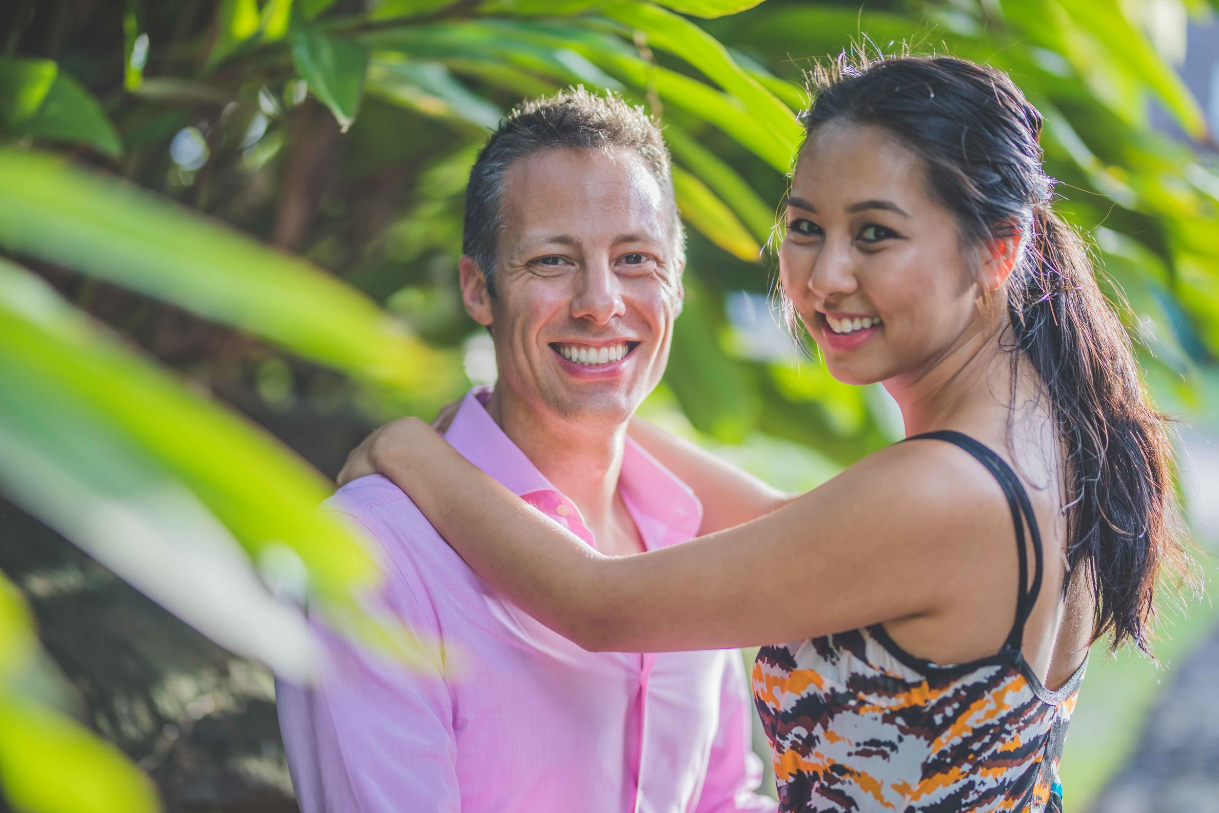 Photoshoot of a couple at Four Seasons in Mauritius