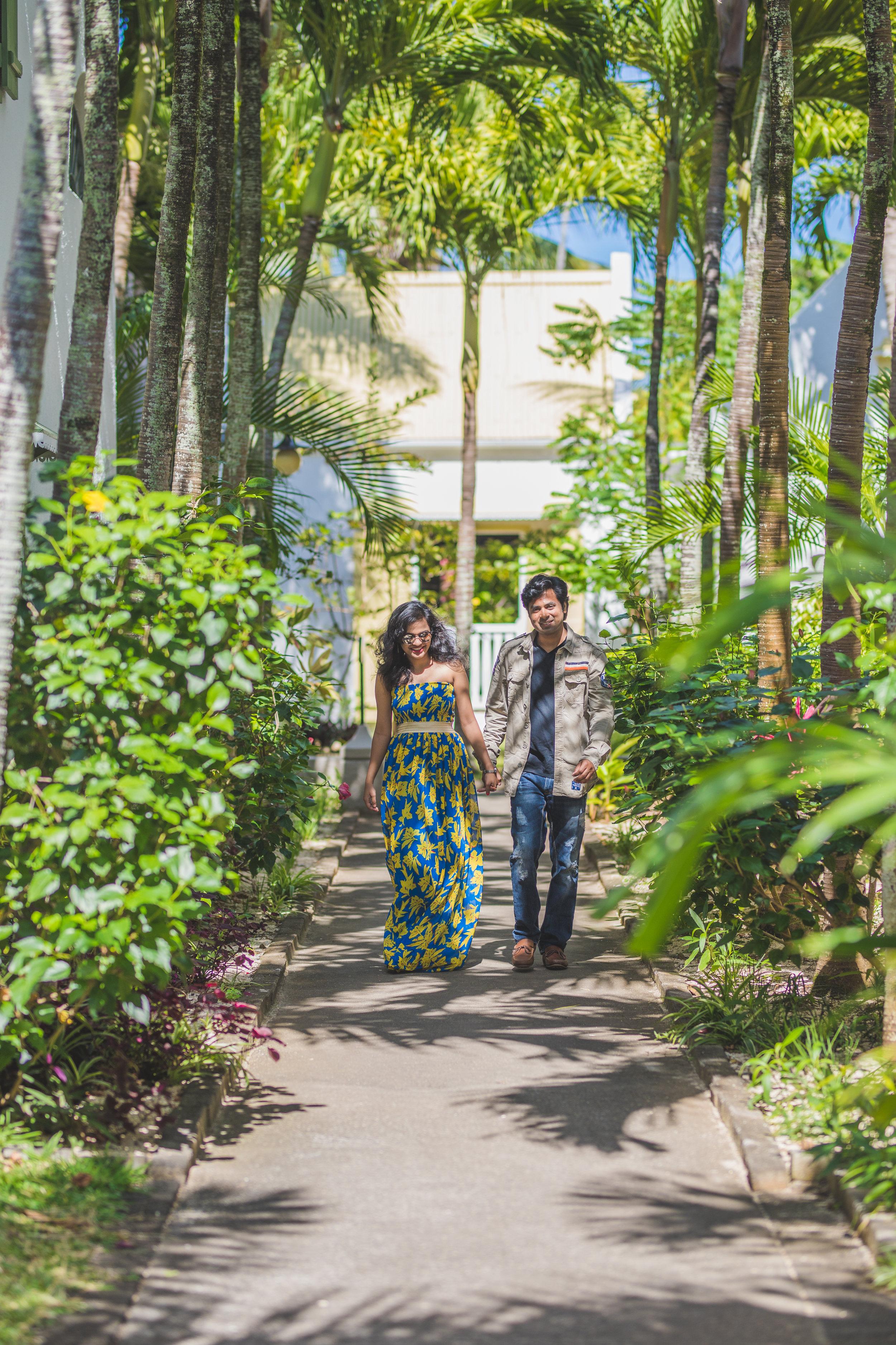Indian Couple on Honeymoon in Mauritius