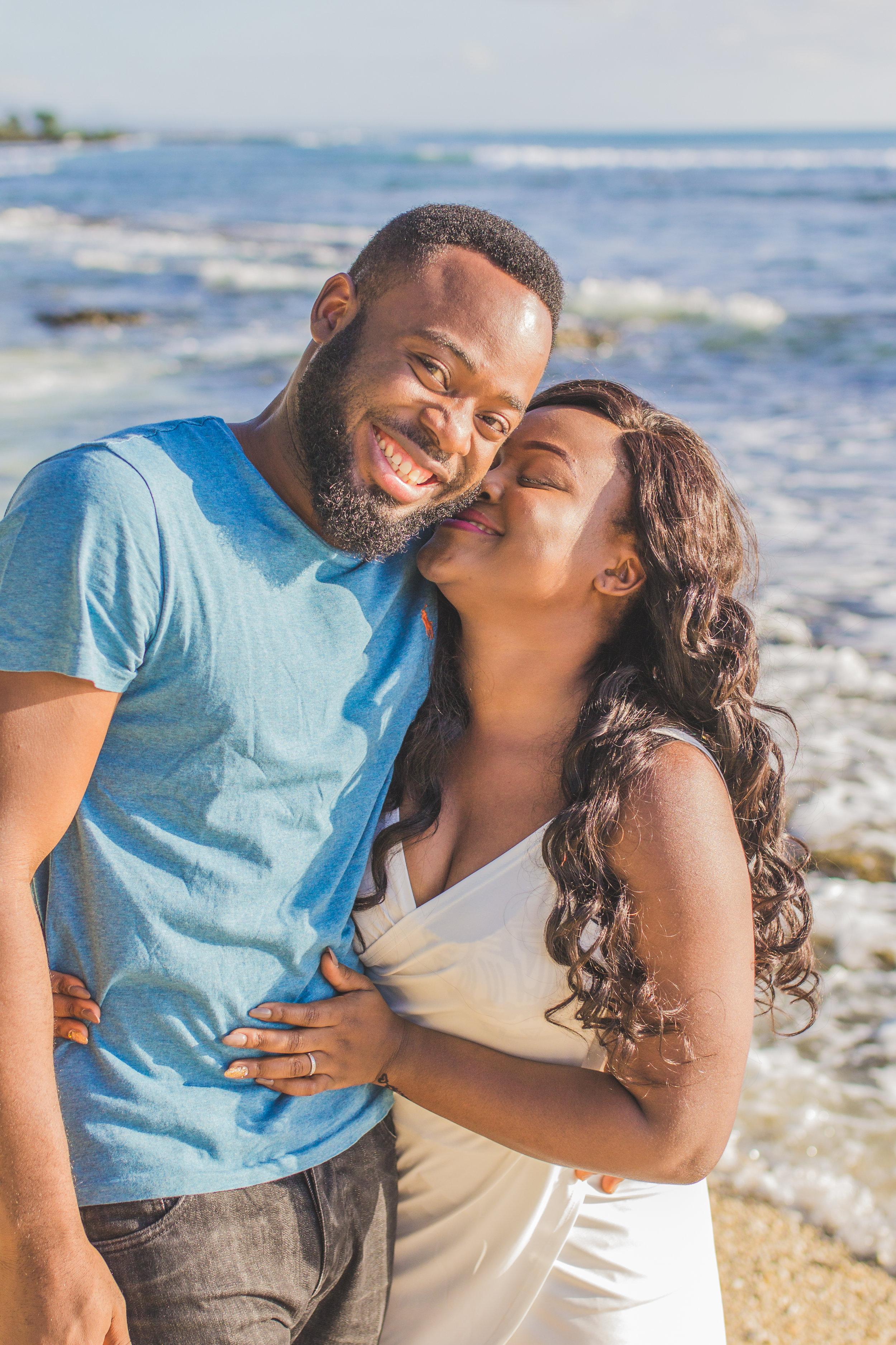Honeymooners having fun in Mauritius