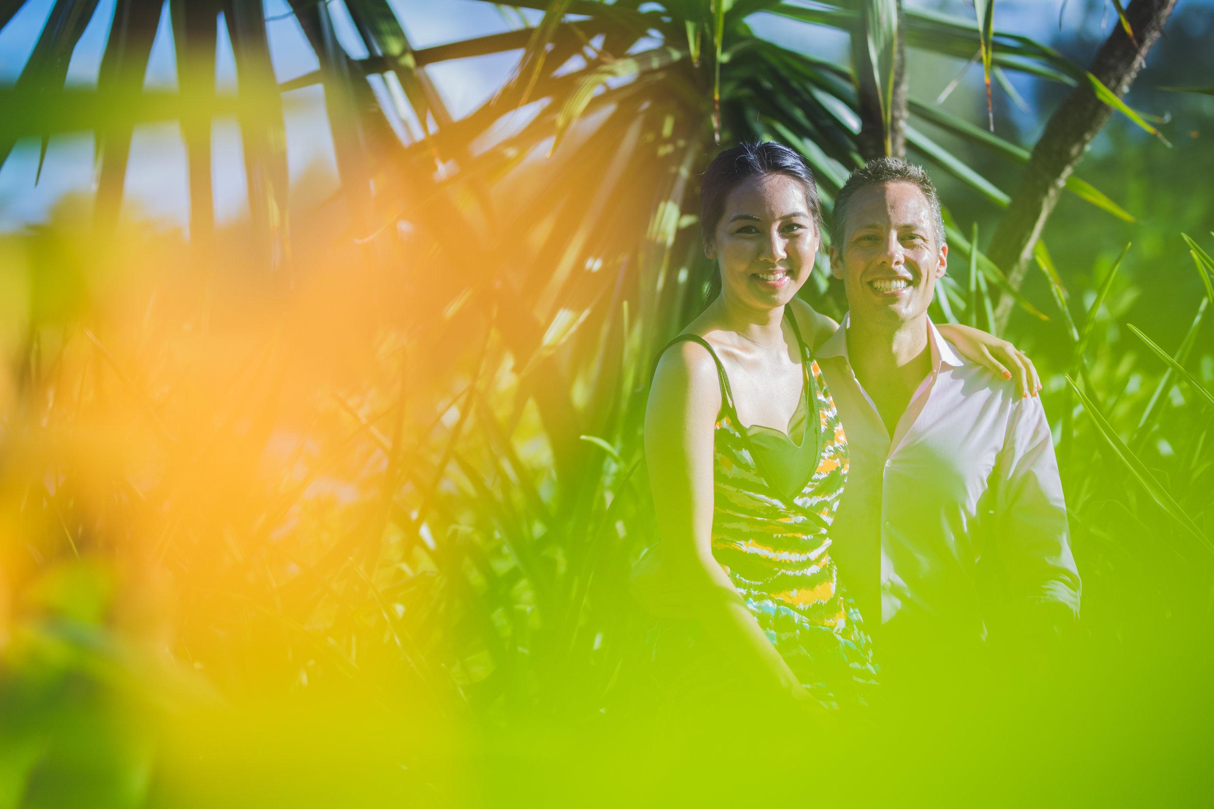 Artistic photo of honeymoon at Four seasons in Mauritius