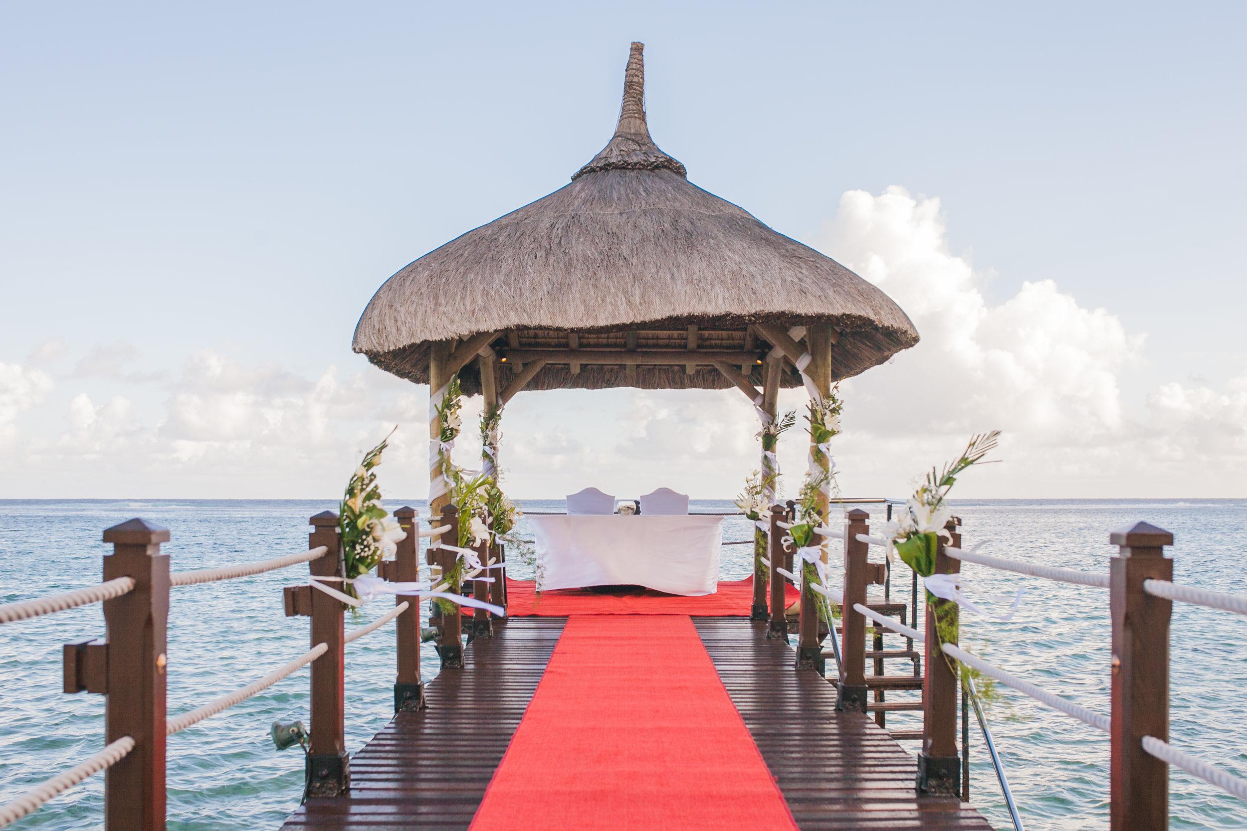 Wedding venue in Mauritius Jetty