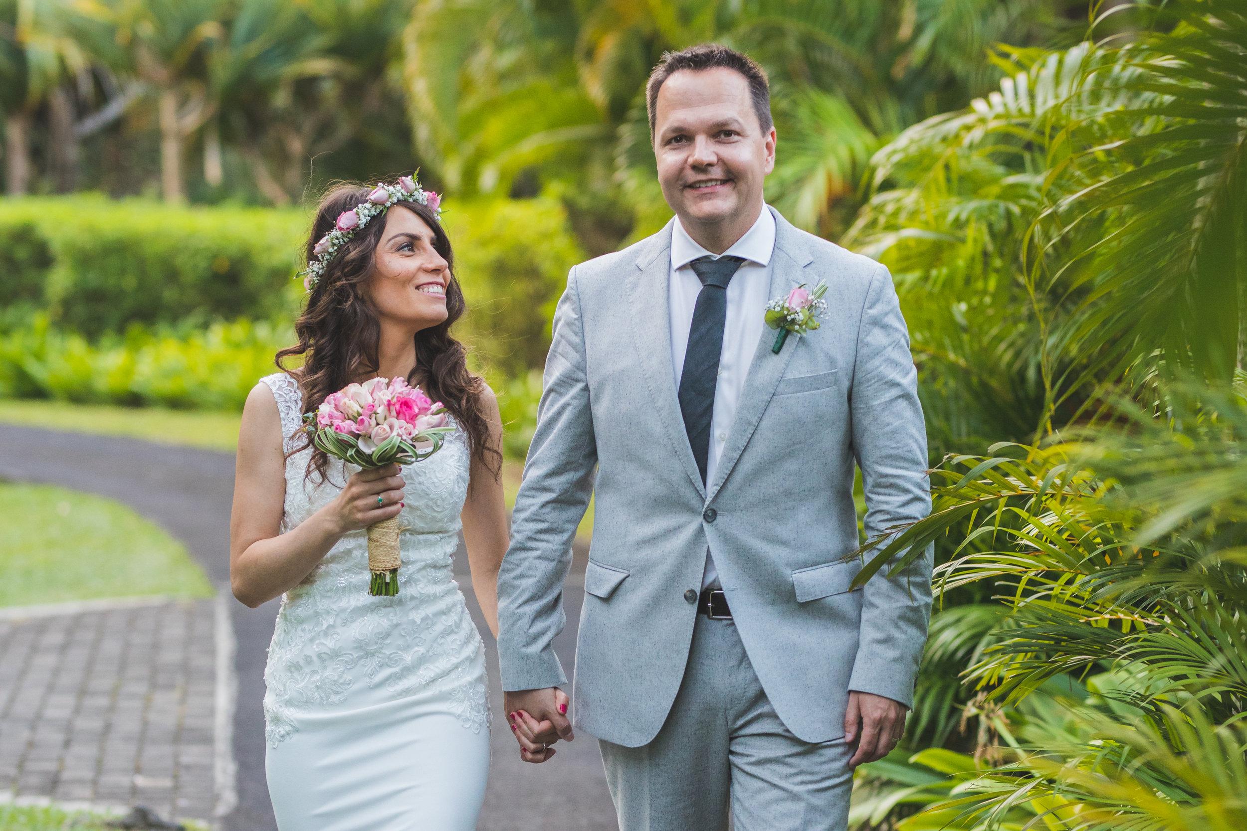 Bride looking at groom at Shanti Maurice