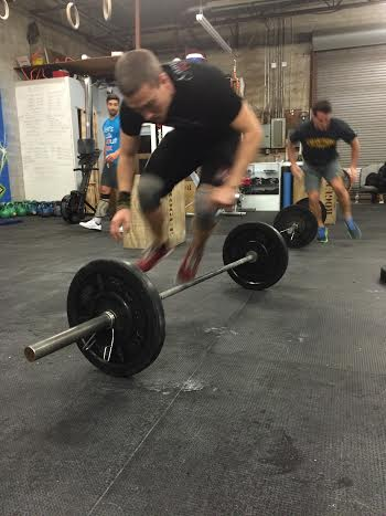 Supercleary gets supercleary-d (ish) above and Corey gets tricky with a burpee to a 10 foot target!