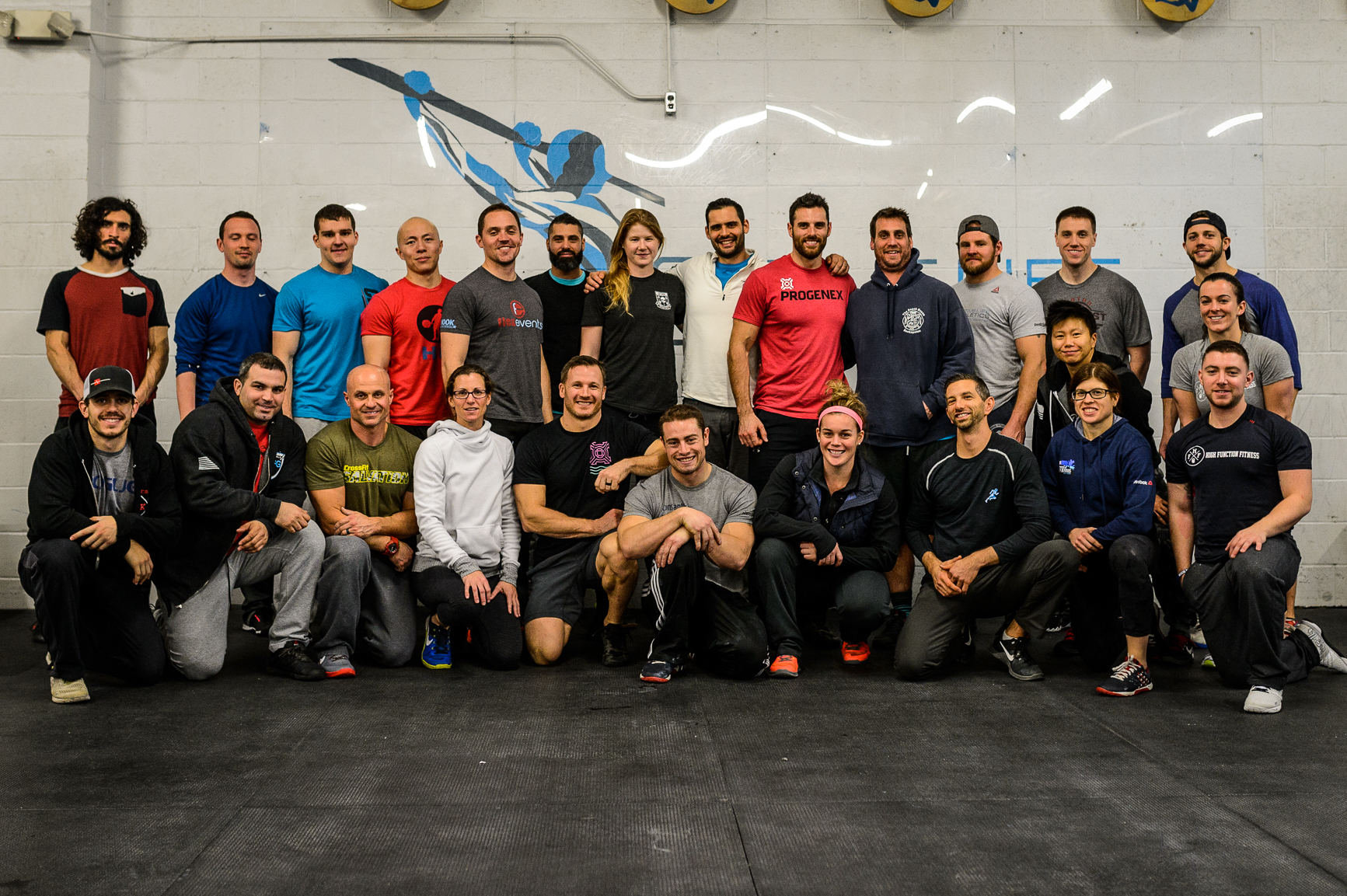 All your coaches, plus a whole lot of other coaches from all over learning about performance care and injury prevention!