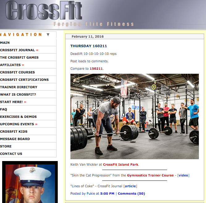 Did Everyone catch Coach Keith (along with the rest of the coaching staff( on CrossFit.com yesterday?