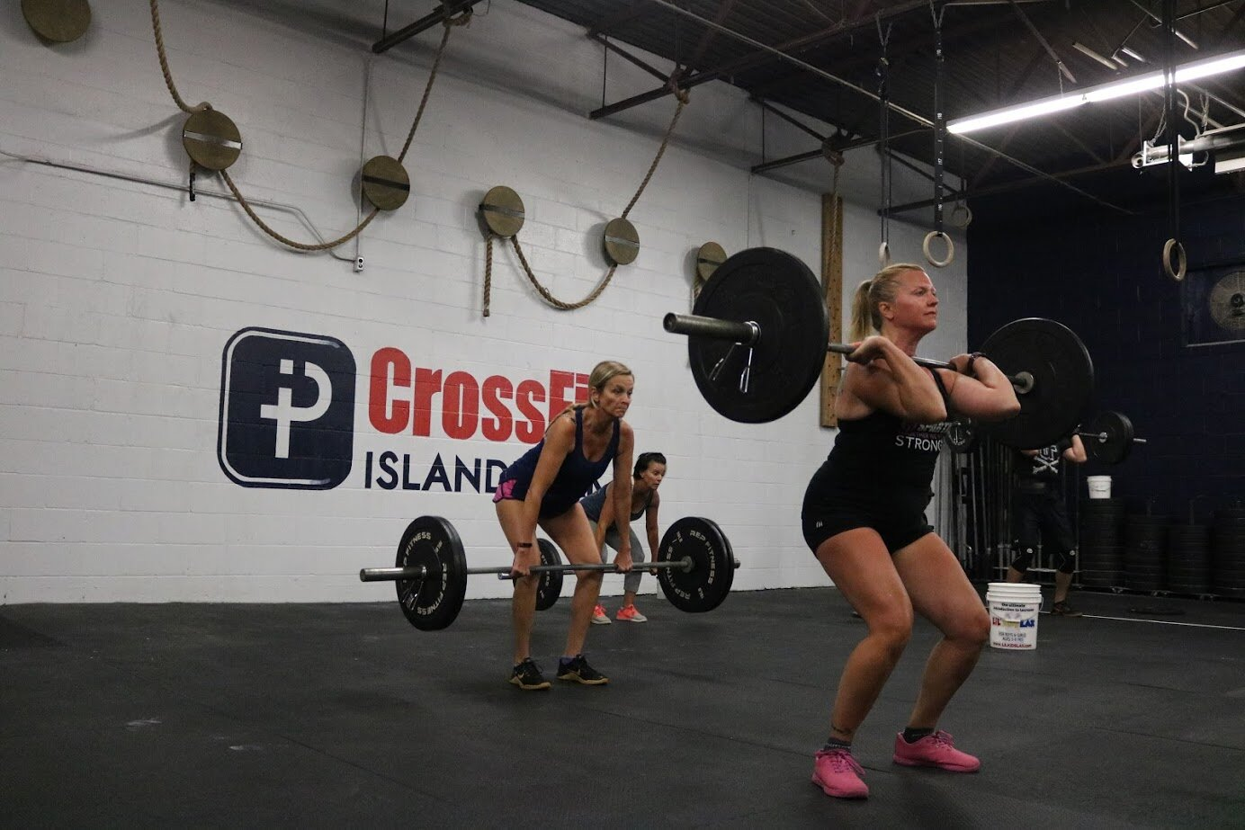 5:30am Ladies, Left to Right: Chrissie Hult, Erin Canepa & Corinne Mahoney
