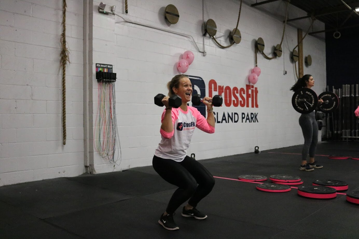 Margaret (11 months in remission) joined us this year for our Barbells for Boobs event. Last year, we raised money to help off-set her medical costs to battle breast cancer.