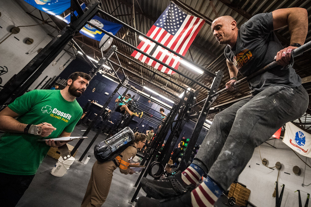 Coach Kyle Zimmerman during 19.4 Photo: @supercleary