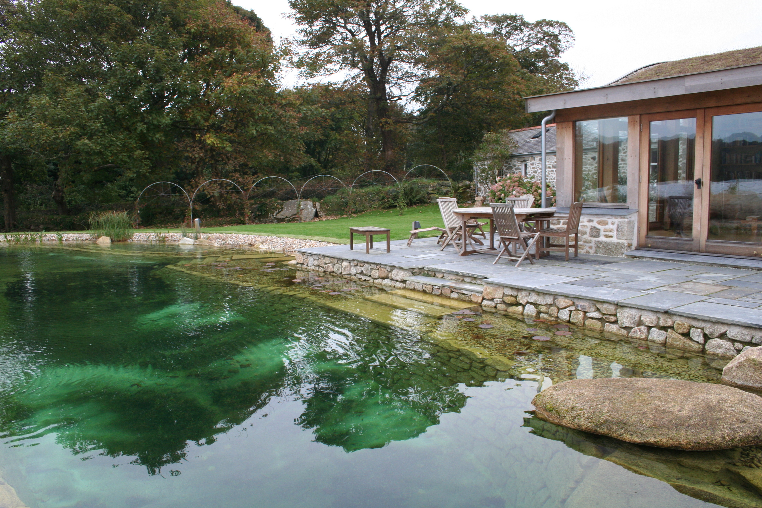 Extension in Cornwall - natural pool