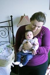 Kiara and Julia 1 Month Postpartum