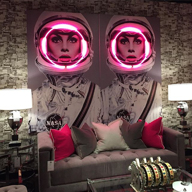 Feeling spacey, so glad it's Friday.  I love love loved this vignette at LV Market, Complements of Andrew Martin Furniture.  Have an awesome weekend everyone, we've earned it!!! #lasvegasmarket #andrewmartin #ncd #fridayfun #interiordesignsandiego #interiordesign #interiors #nicolechavesinteriordesign