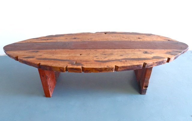 RECLAIMED OVAL COFFEE TABLE