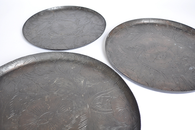Ethnic Trays w Detailed Engravings