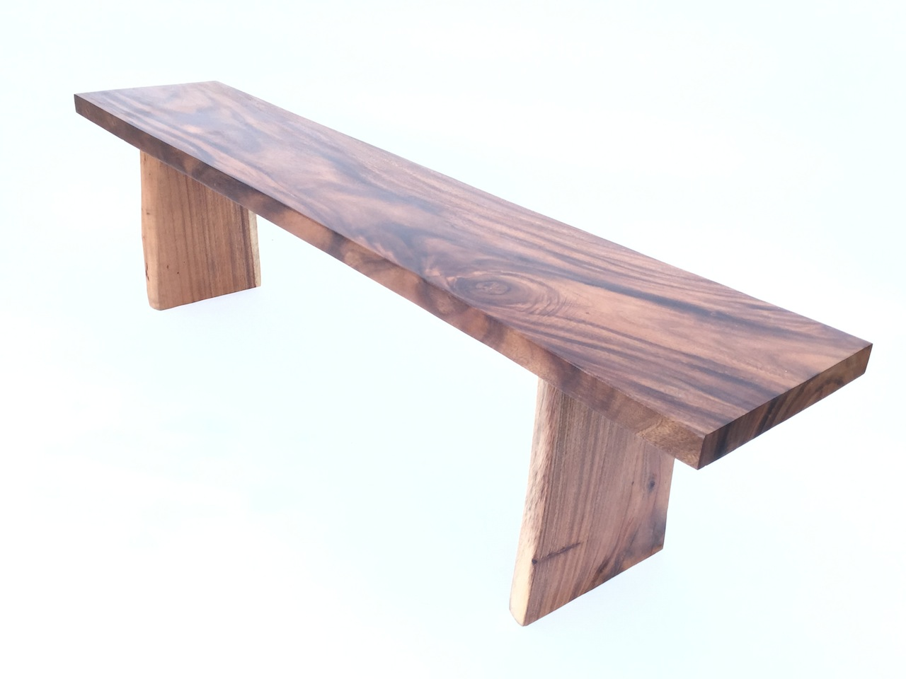 Straight Edge Acacia Bench