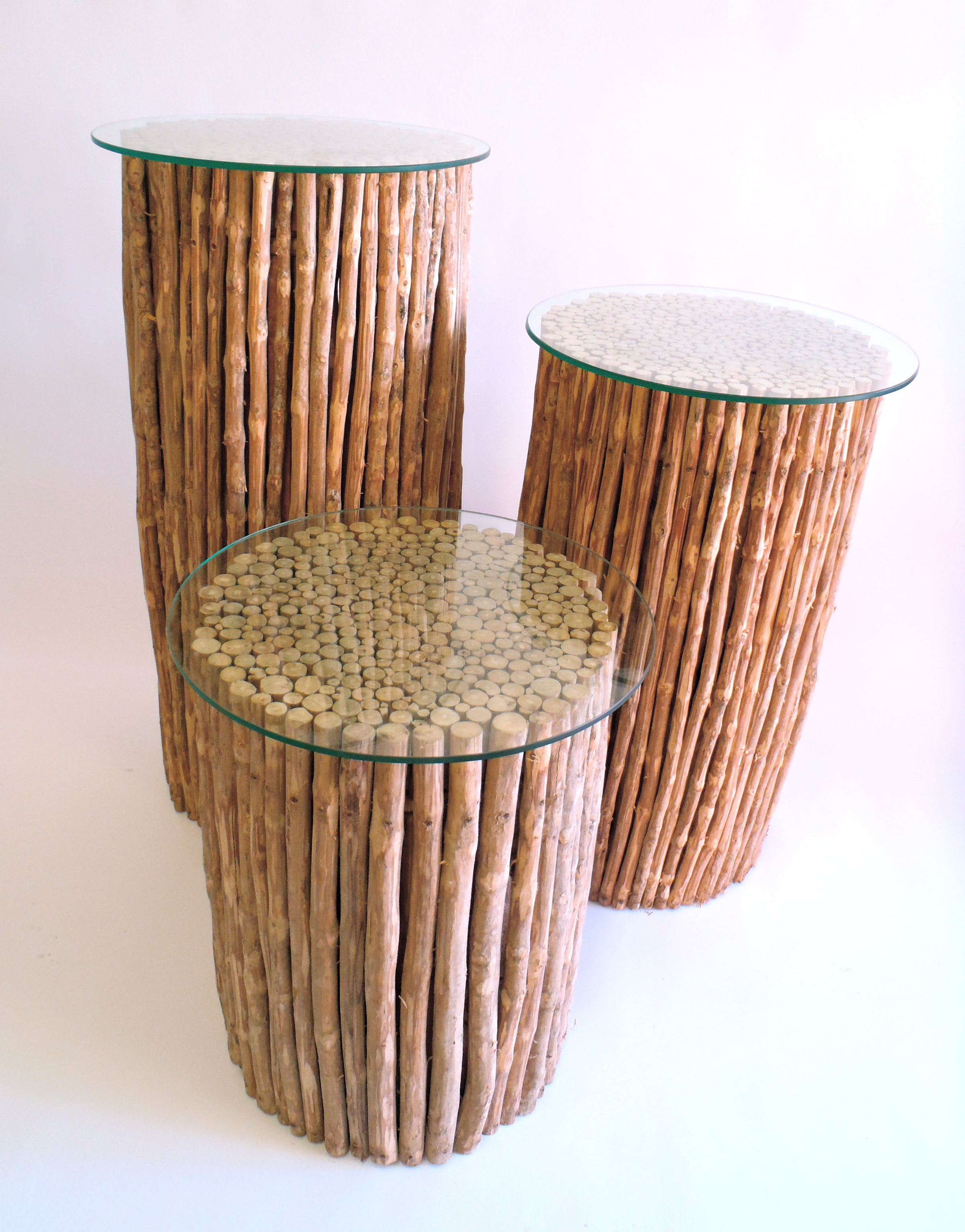 Coffee Wood Columns