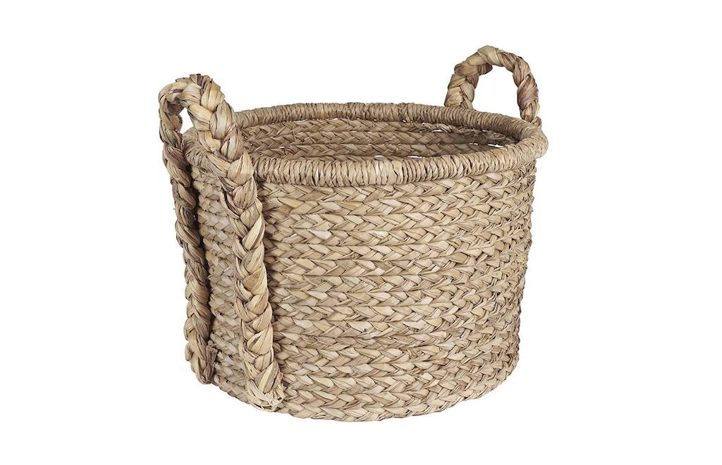 Lg Basket w Braided Handle