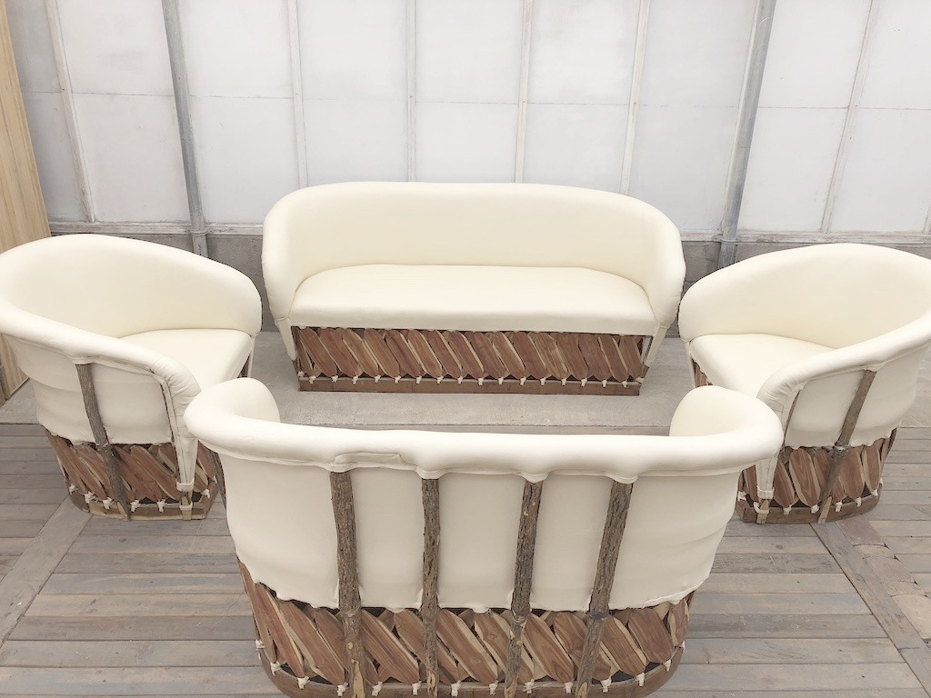 Equipales Ivory Lounge Set