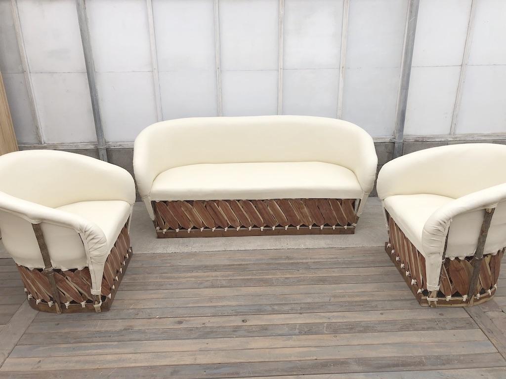 3pc Ivory Lounge Set