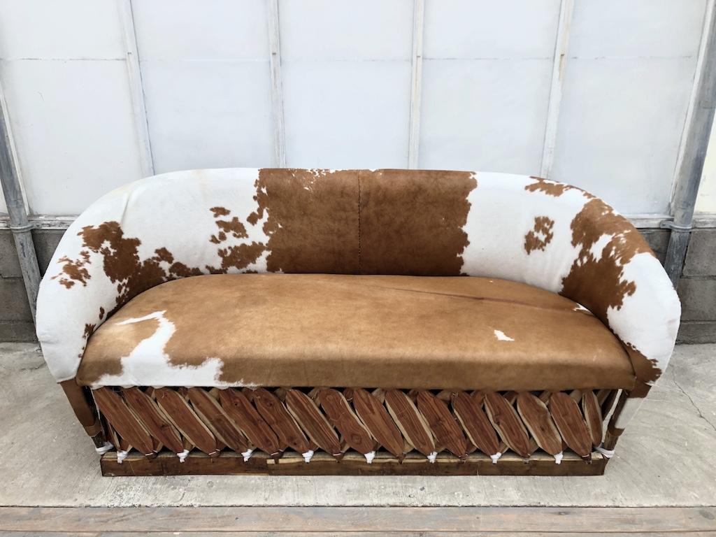 Lg Cow Hide Sofa
