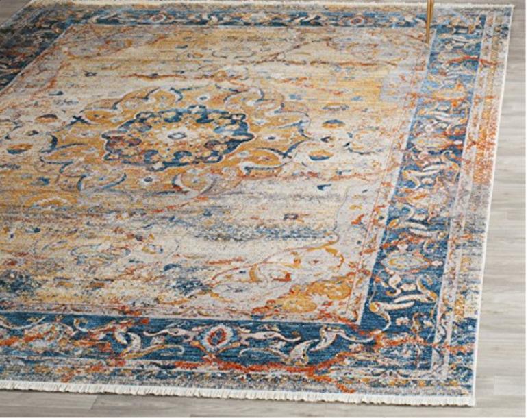 Faded Blue Persian Rug