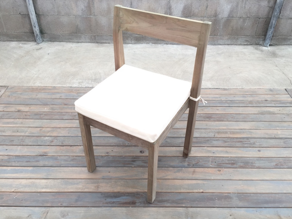Weathered Dining Chair with Cushion