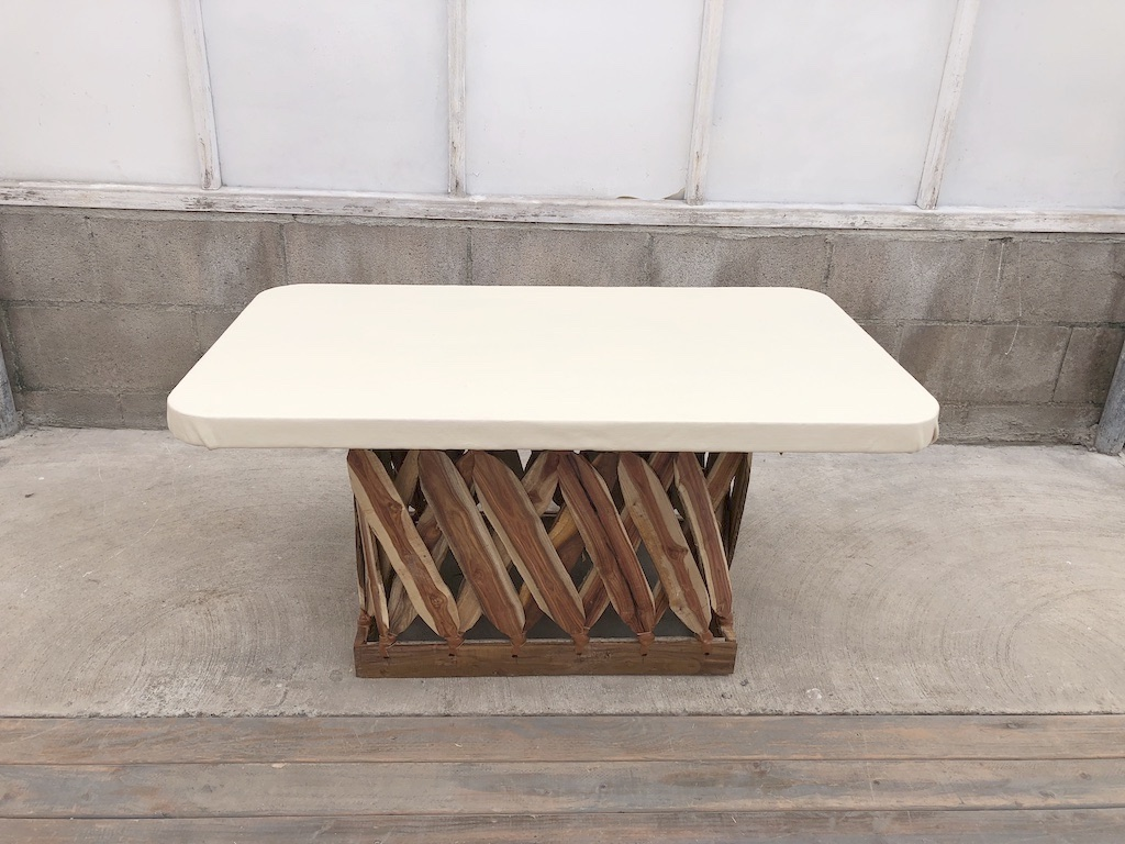 Equipales Ivory Table		40x24x20H