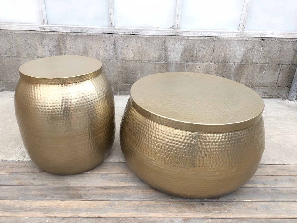 Gold Dimpled Metallic Table