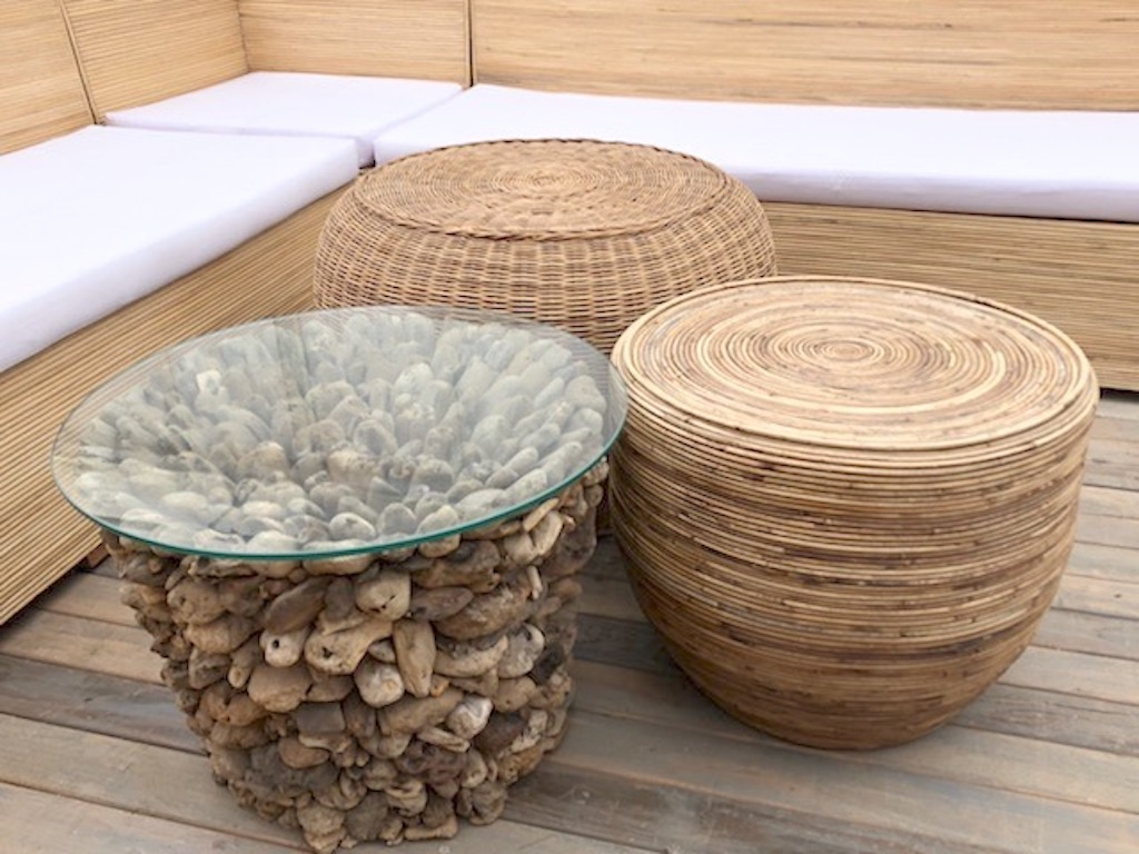 Beach Cabana Table Trio
