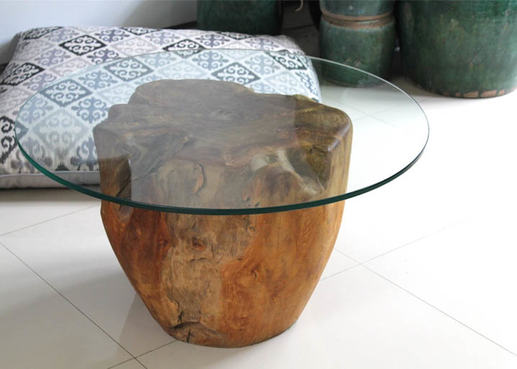Rounded Log with Glass