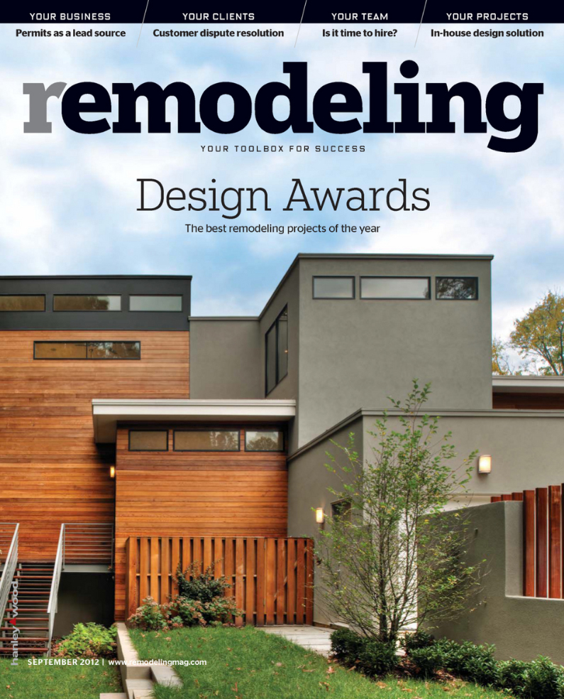 Remodeling Magazine; Design Awards Issue - Cover; September 2012; Page 48-50; Lakefront Residence