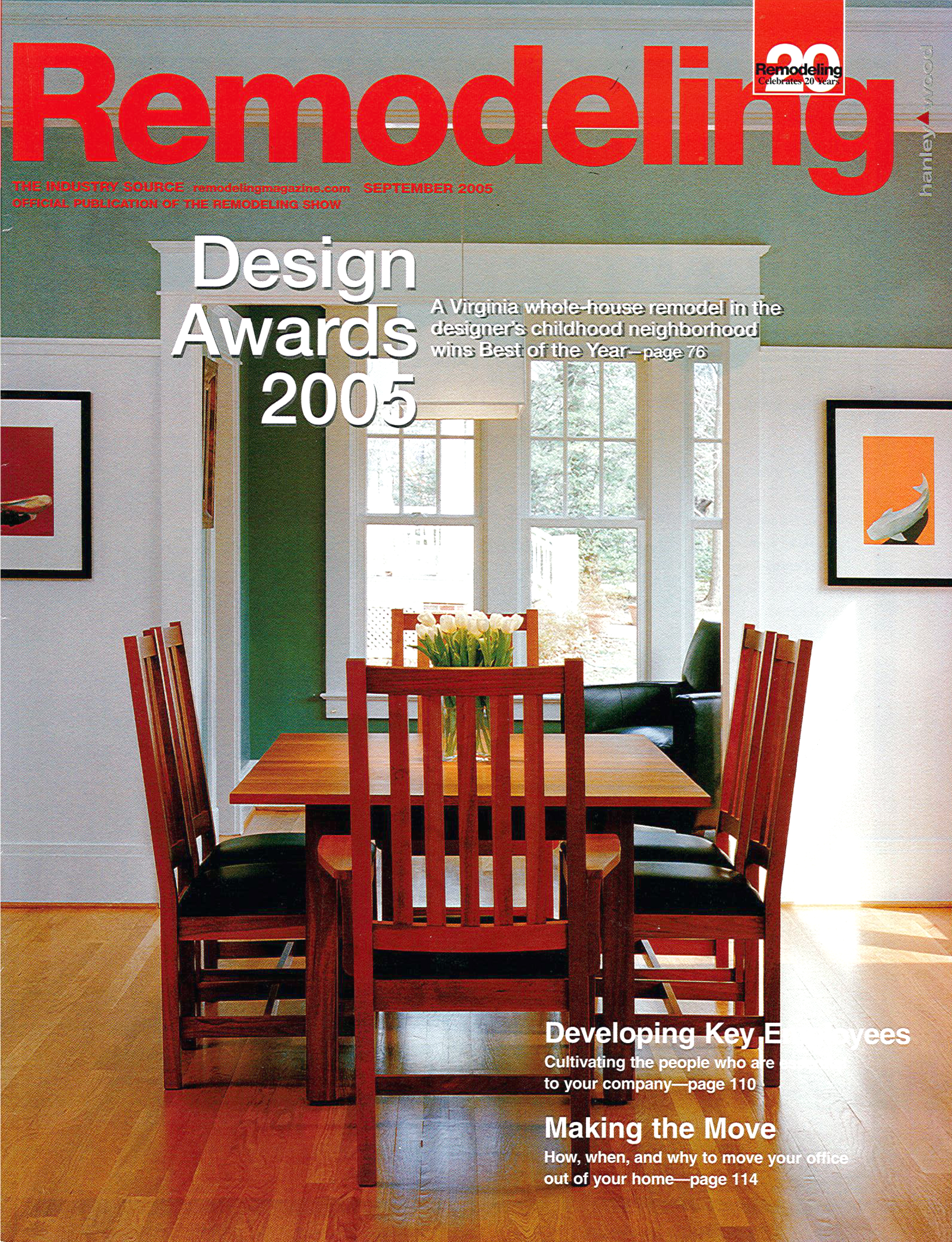Remodeling Magazine - Cover; October 2005; Page 76; 'Best of the Year'; Cherry Street House; Falls Church, VA