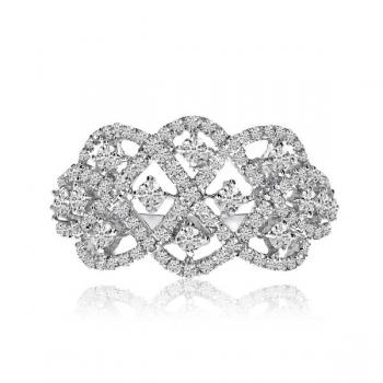 Diamond Accented Weave Ring by Allurez