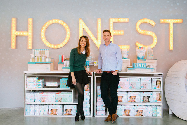 Jessica Alba and Sean Kane, co-founders of The Honest Company