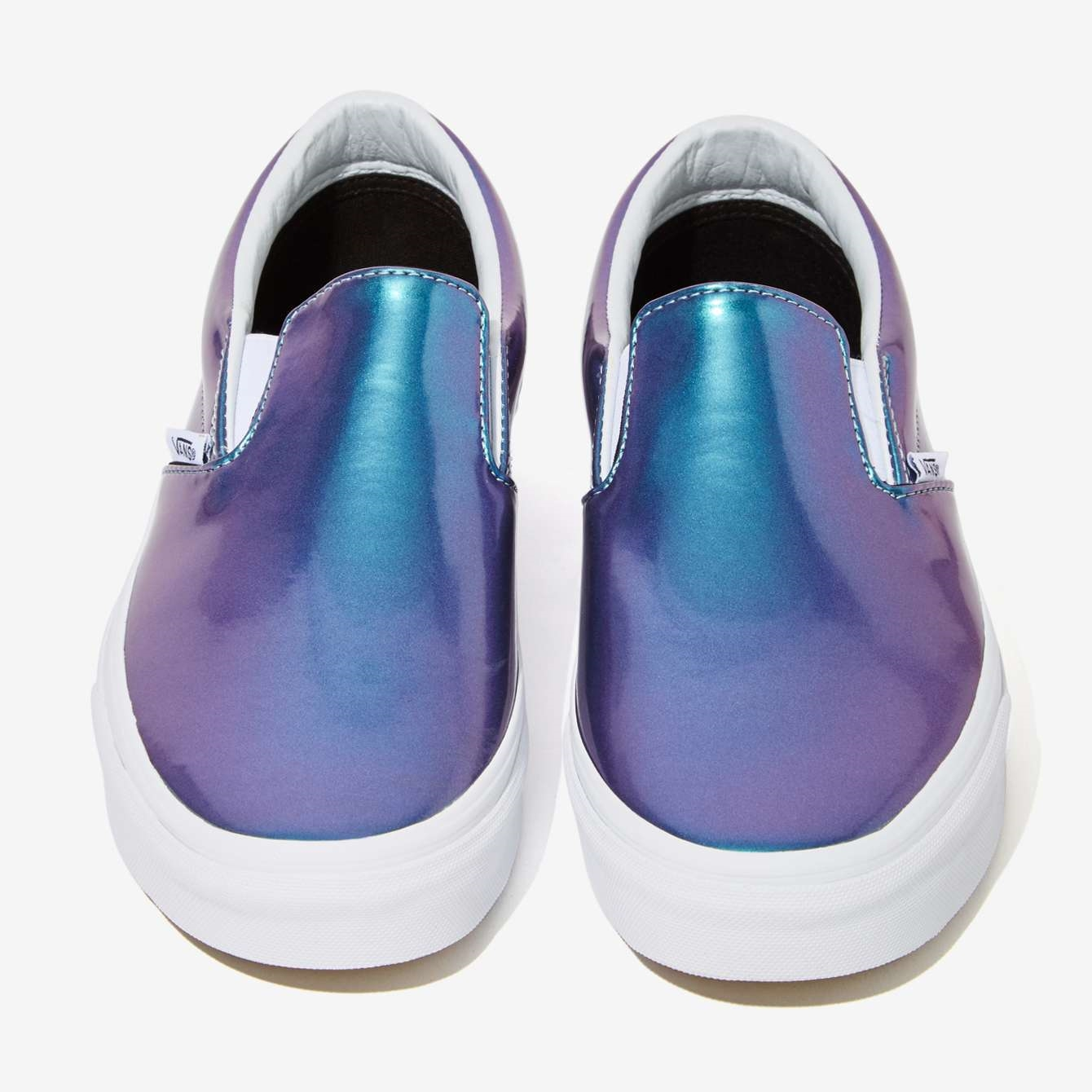 Vans  Iridescent. Love the shine. Sure to get a lot of stares!