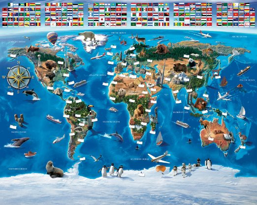 You can buy this  one  or check other options at Amazon.com by typing 'world map wallpaper' on their search!