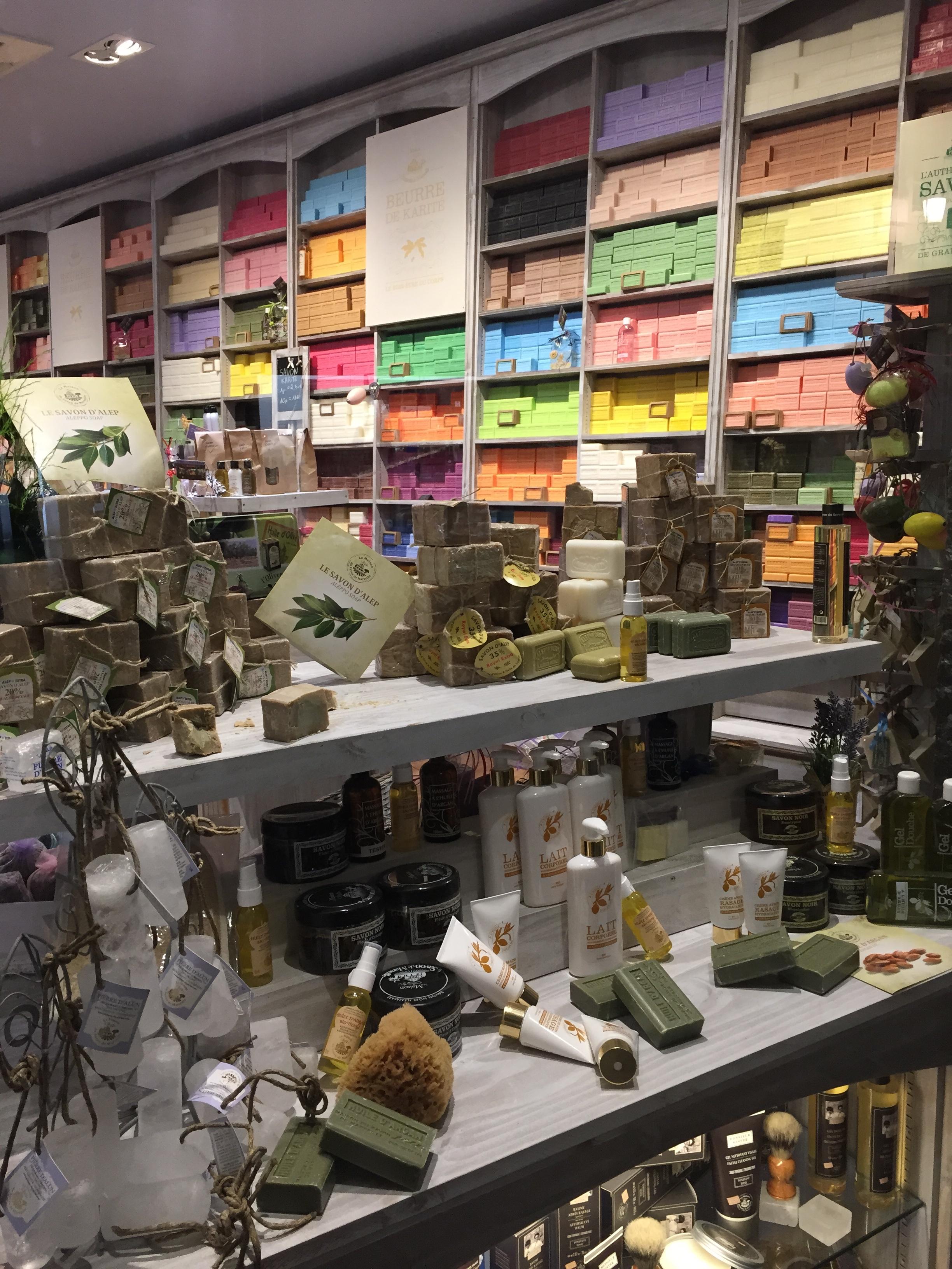 Handmade soap shop
