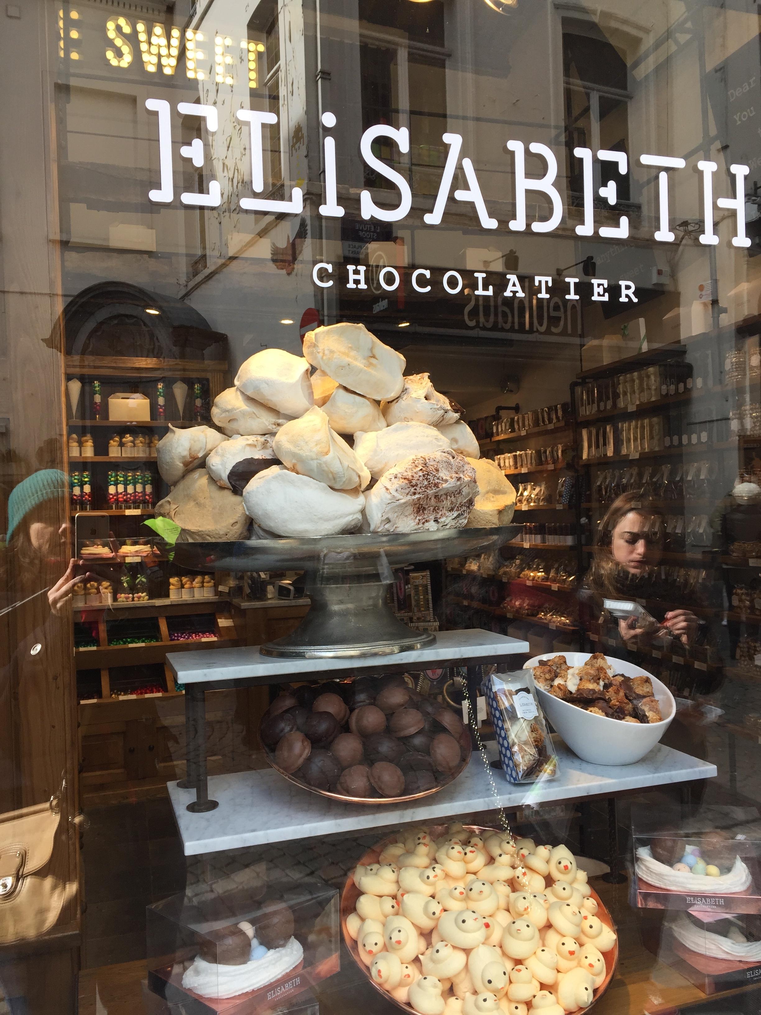 Massive meringues at Elisabeth Sweets...