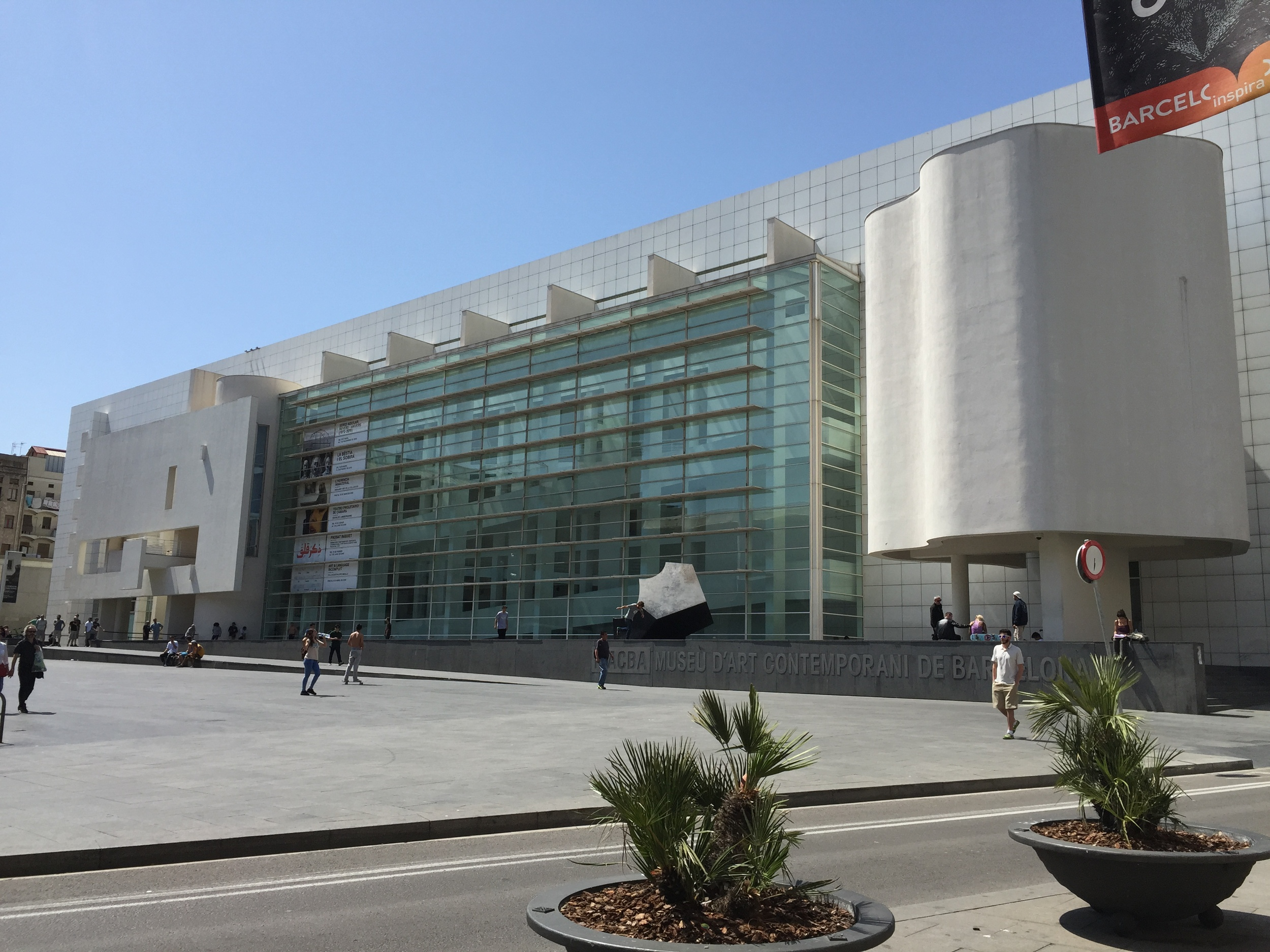 MACBA and the always present skaters.
