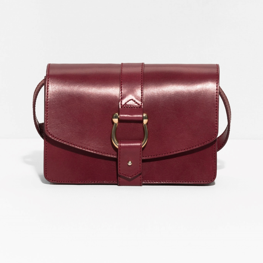 PUSH PIN BUCKLE LEATHER CROSSBODY £79