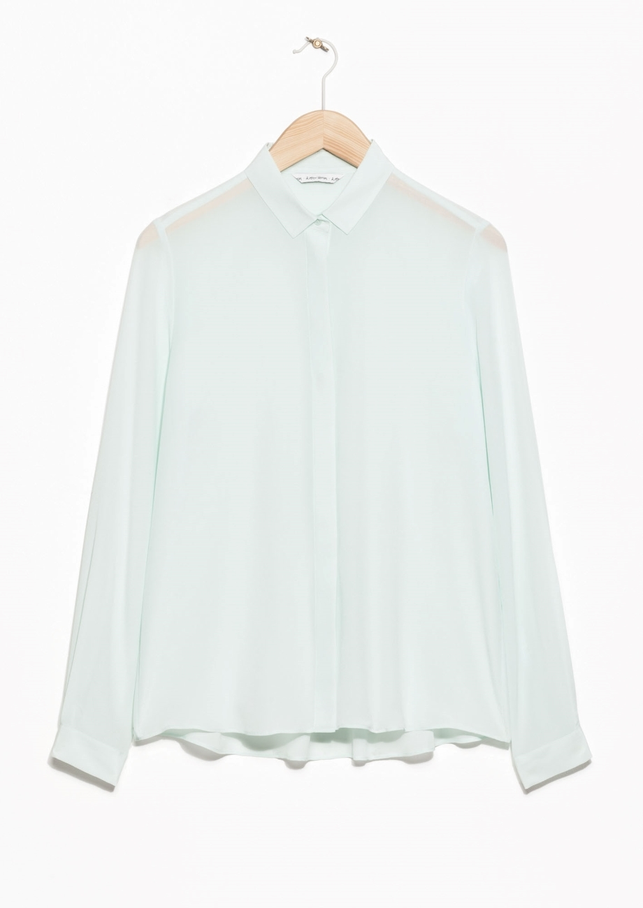 STRAIGHT FIT SILK SHIRT £65