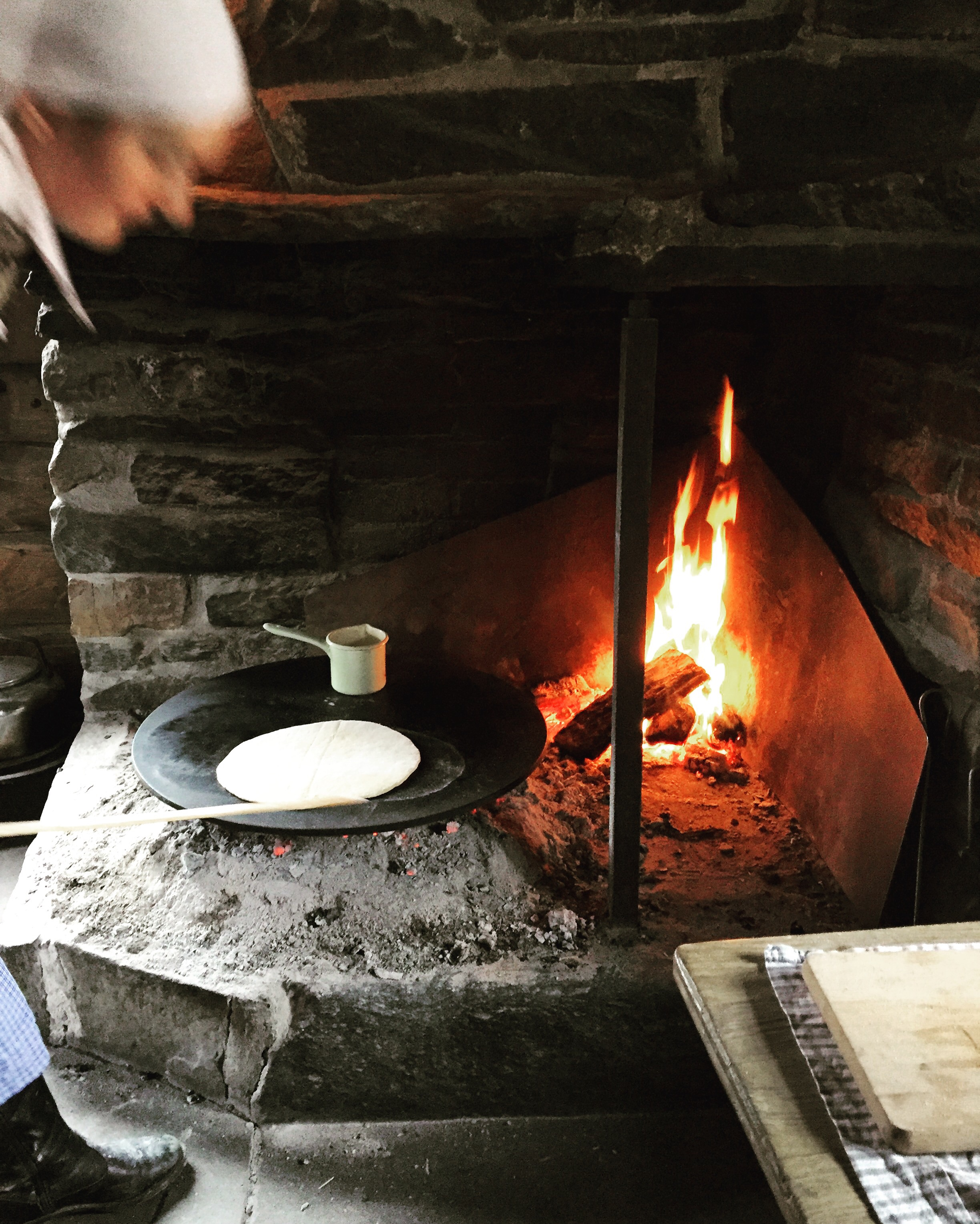 Traditional bread making.