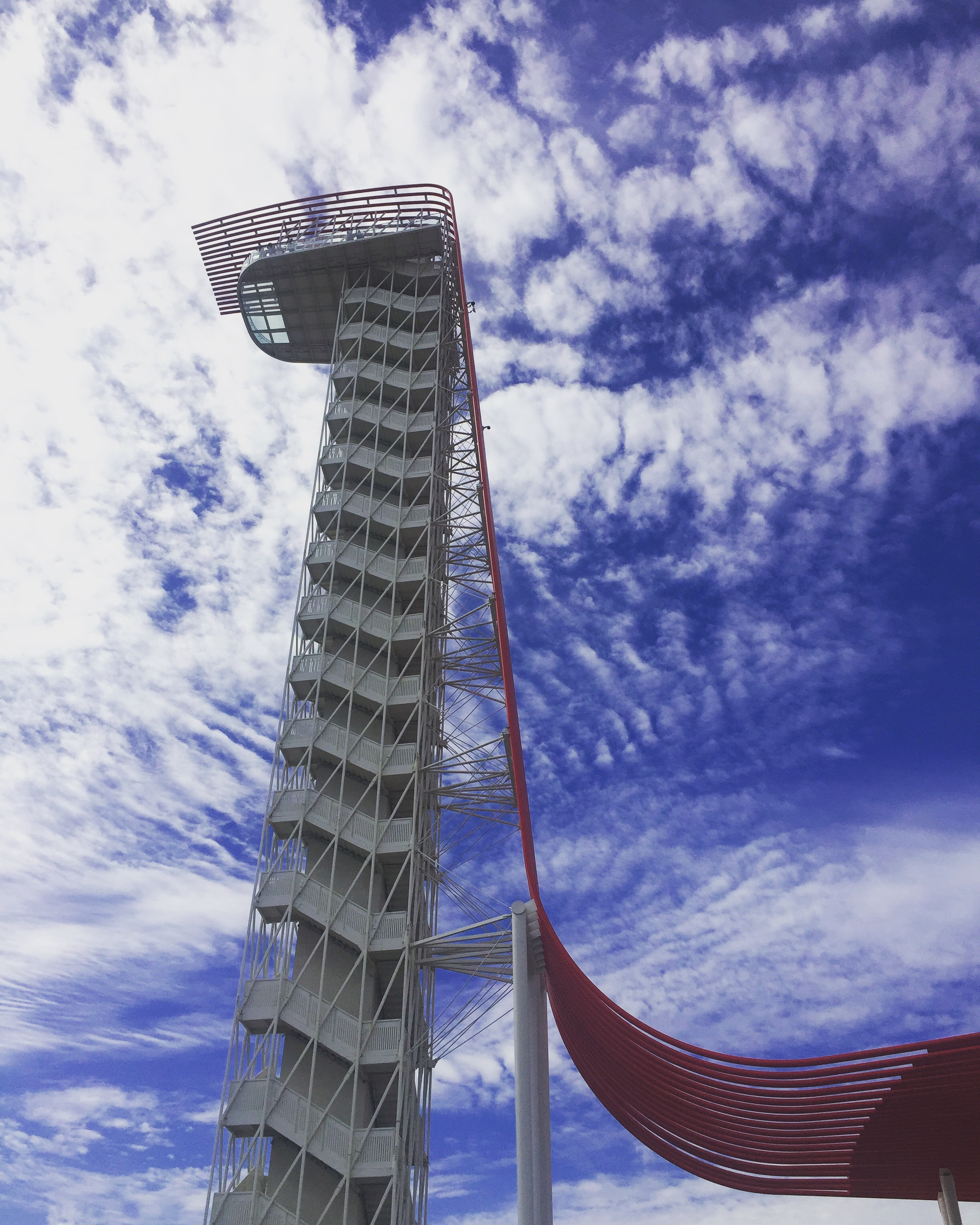Cool tower at The CIrcuit of the Americas where the Formula 1 in Austin happens.