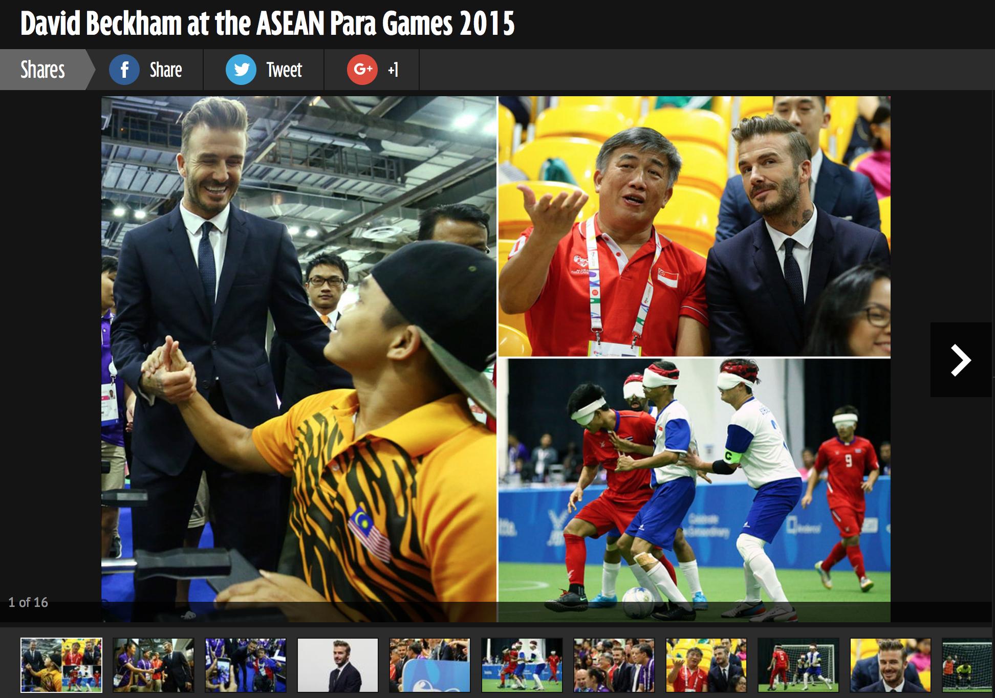 David Beckham visit, 8th ASEAN Para Games, Daily Mirror (mirror.co.uk)