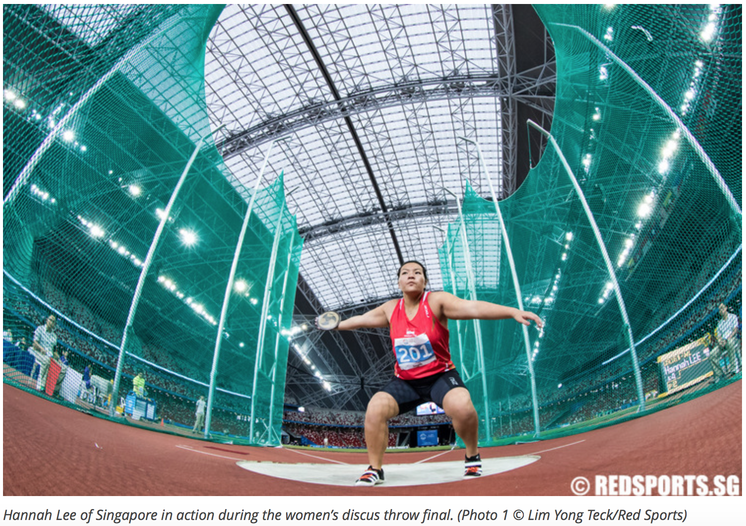 Women's discus throw, 28th Southeast Asian Games for Red Sports (www.redsports.sg)