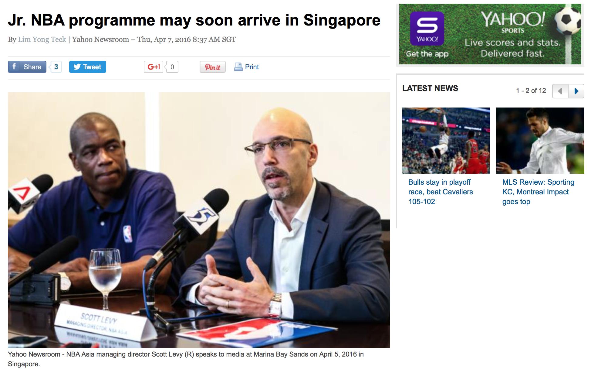 Jr. NBA Asia media roundtable for Yahoo! (www.yahoo.com)